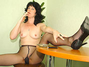 smoking mom in pantyhose