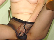 mature sex fingering in tights