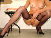 squatted mom in pantyhose